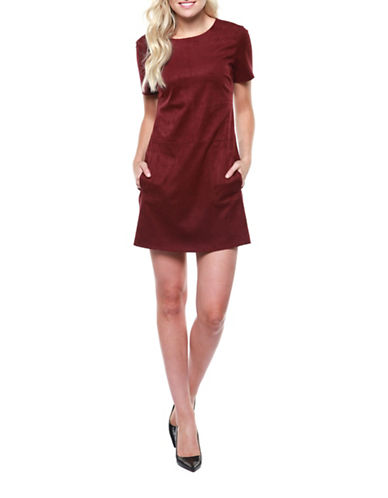Dex Versatile Sheath Dress-RED-Small