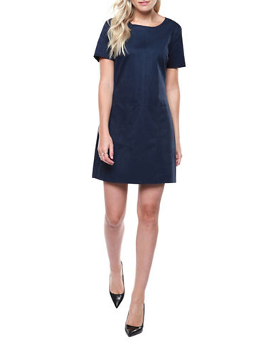 Dex Versatile Sheath Dress-NAVY-Small