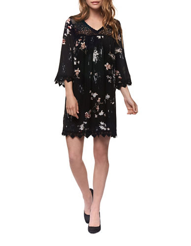 Dex Floral Print Swing Dress-FLORALS-Large