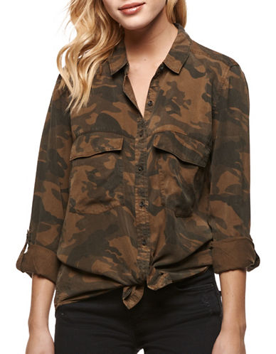 Dex Camouflage Button Down Shirt-CAMO PRINT-Medium