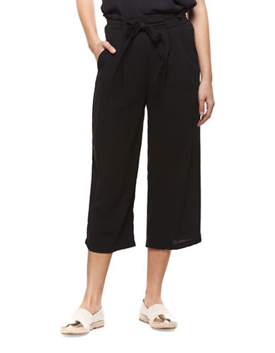 Dex Cropped Palazzo Pants-BLACK-Large