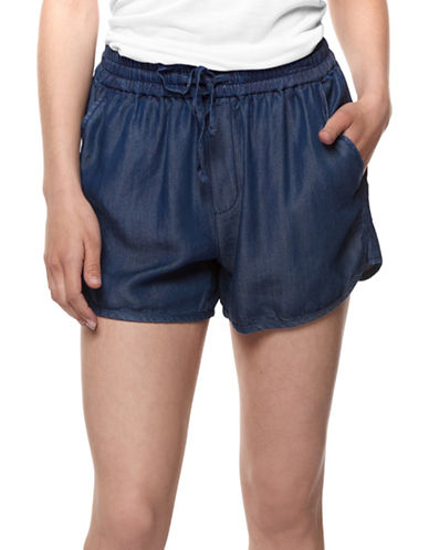 Dex Drawstring Pocket Shorts-BLUE-X-Small