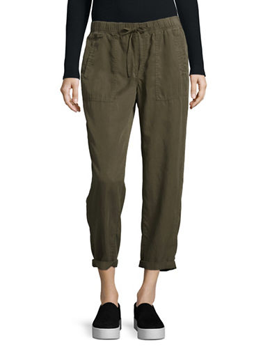 Dex Woven Drawstring Pants-GREEN-Small