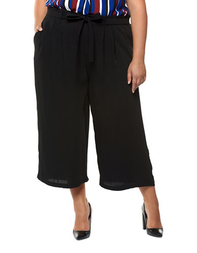 Dex Plus Cropped Palazzo Pants-BLACK-1X