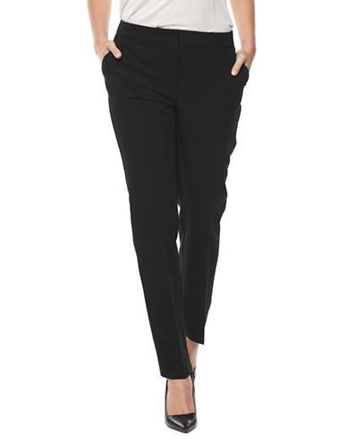 Dex Tab Closure Straight Leg Trousers-BLACK-X-Small