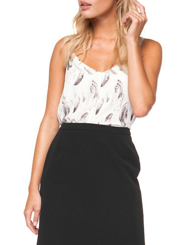 Dex Lace-Print Camisole-BLACK PRINT-Medium