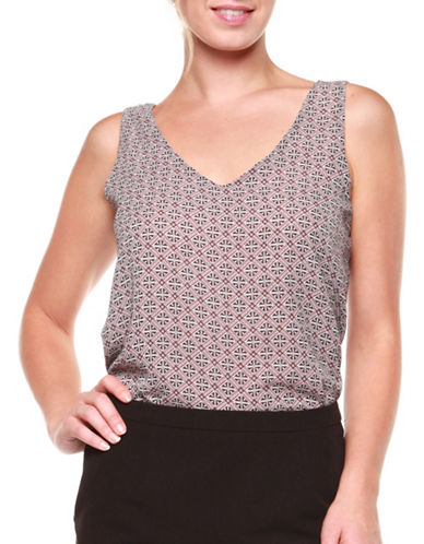 Dex Printed Woven Tank Top-ROSE PRINT-X-Small