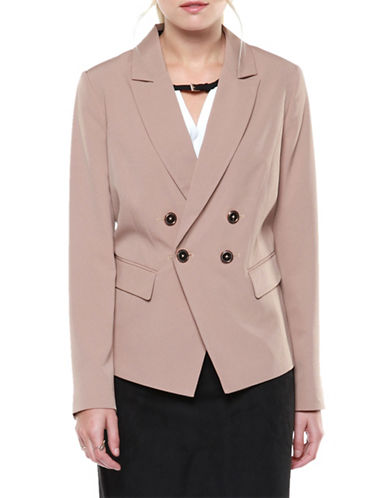 Dex Double Breasted Blazer-TOFFEE-Small