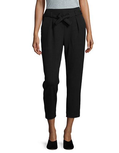 Dex Pleat Front Belted Pants-BLACK-Medium 89612059_BLACK_Medium