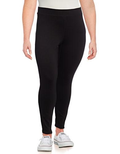 Dex Plus Stretch Solid Leggings-BLACK-1X