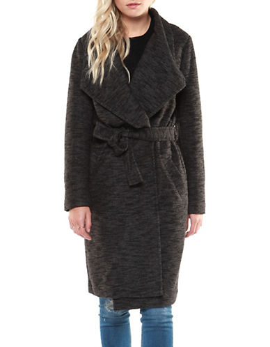 Dex Belted Wrap Coat-GREY-X-Small