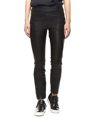 Dex Faux Leather Leggings-BLACK-Large