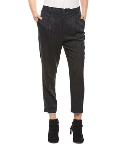 Dex Striped Pants-CHARCOAL-X-Small