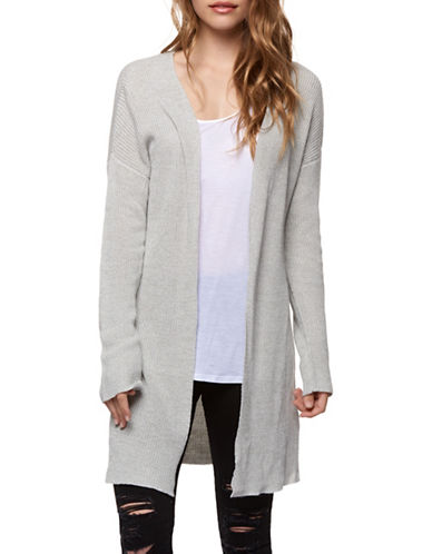 Dex Long Sleeve Open Cardigan Sweater-GREY-Large