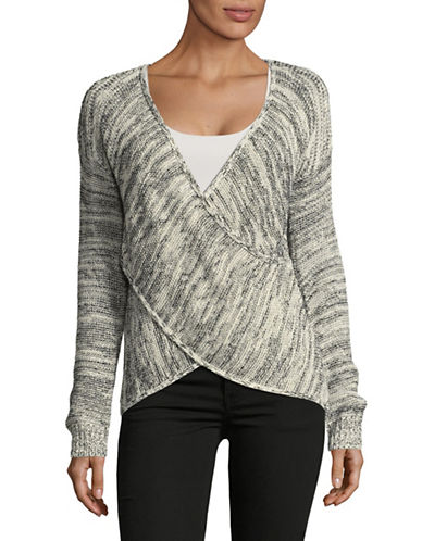 Dex Wrap Sweater-BLACK MULTI-Medium