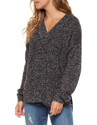 Dex V-Neck Sweater-GREY-Medium