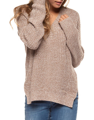 Dex V-Neck Sweater-CREAM-Small