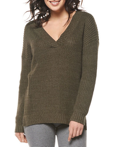 Dex V-Neck Sweater-GREEN-Small