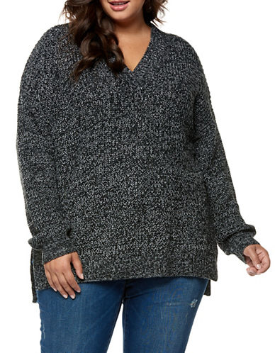 Dex Plus Drop-Shoulder Sweater-LIGHT GREY-2X