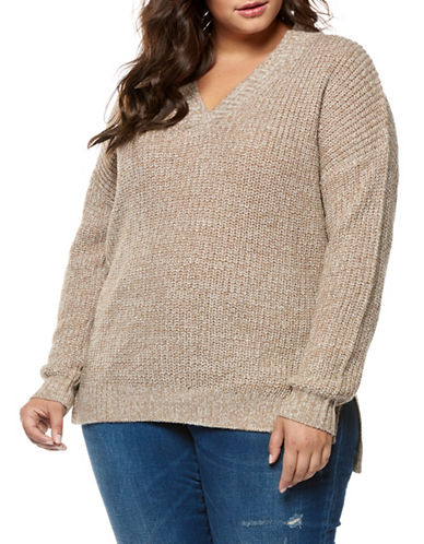 Dex Plus Drop-Shoulder Sweater-CREAM-2X