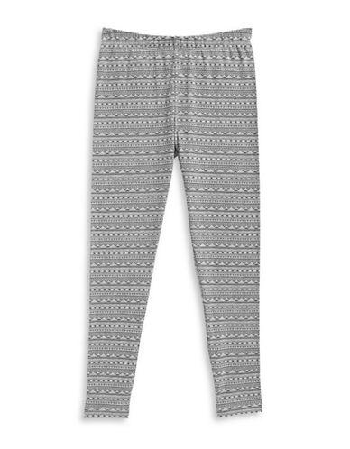 Dex Aztec-Print Cotton Leggings-GREY-Large