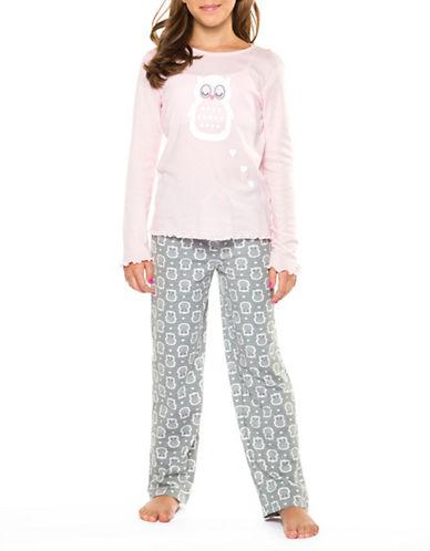 Dex Self-Tie Printed Pyjama Pants-GREY-X-Large