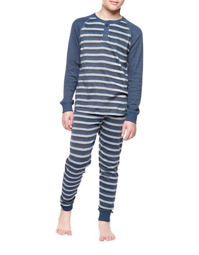 Dex Stripe Designed Pyjamas-BLUE-Medium