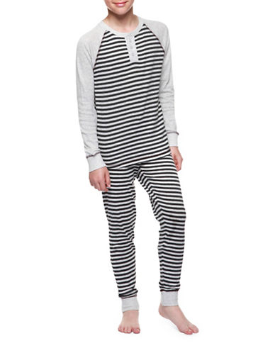 Dex Stripe Designed Pyjamas-BLACK-Small
