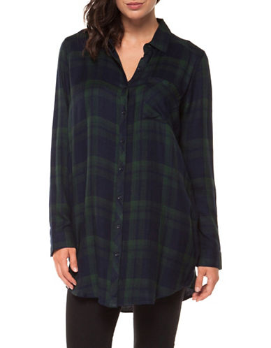 Dex Plaid Button-Down Shirt-HUNTER-Large