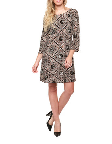 Dex Printed Crisscross Back Dress-PAISLEY-Small