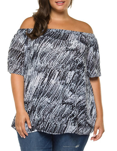 Dex Plus Abstract Top-BLACK-3X