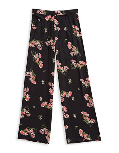 Dex Floral Print Pants-BLACK-Small