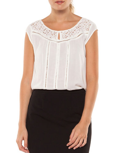 Dex Crochet Insert Top-IVORY-Small