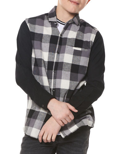 Dex Plaid Cotton Shirt-GREY-8-10