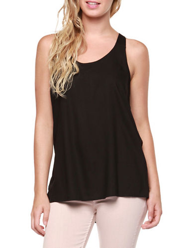 Dex Woven Tank Top-BLACK-X-Small