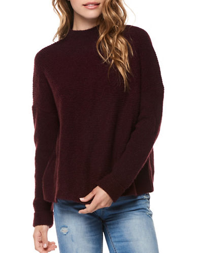 Dex Mockneck Sweater-RED-Large