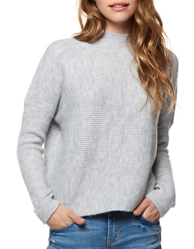 Dex Mockneck Sweater-GREY-X-Small