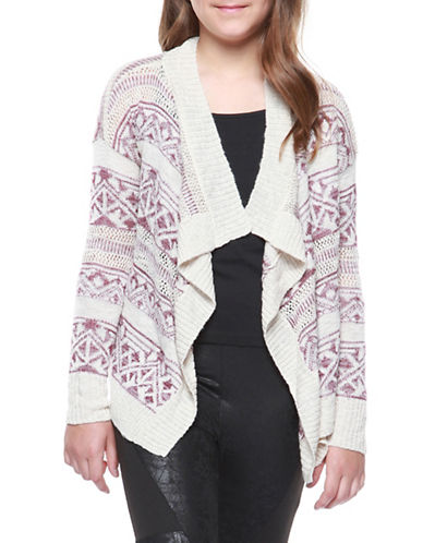 Dex Knit Open Cardigan-PURPLE-6X