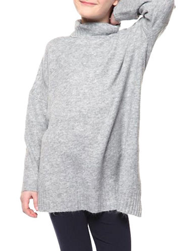 Dex Turtleneck Sweatshirt-GREY-Medium