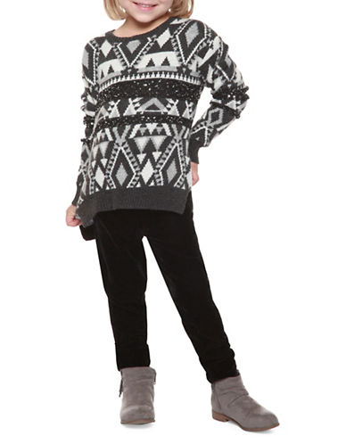 Dex Fair Isle Sweater-GREY-4