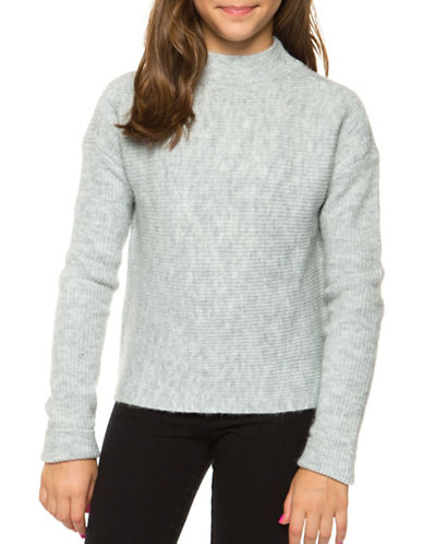 Dex Mockneck Sweater-GREY-Small