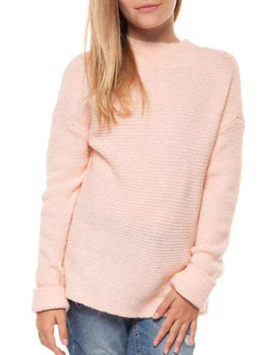 Dex Mockneck Sweater-PINK-Medium