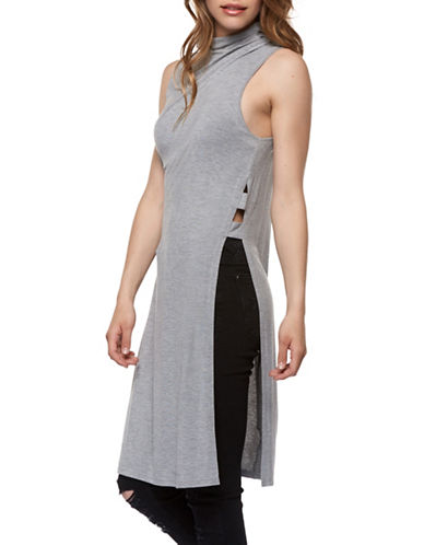 Dex Mock Neck Maxi Top-GREY-Small 89392792_GREY_Small
