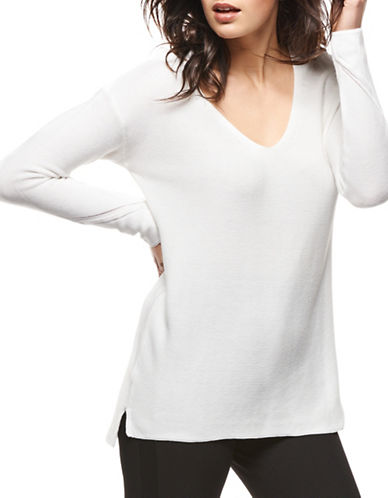 Dex Essential Sweater-WHITE-Medium