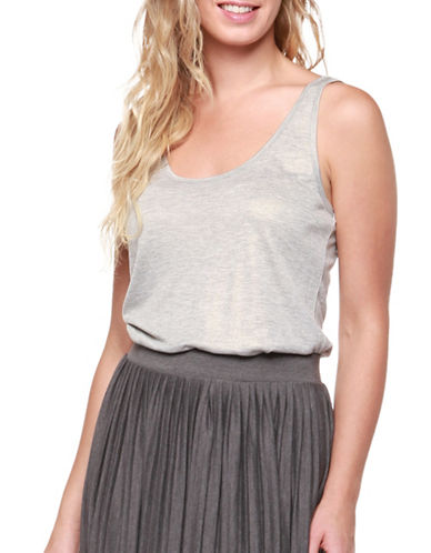 Dex Shimmer Tank Top-CHARCOAL-Medium