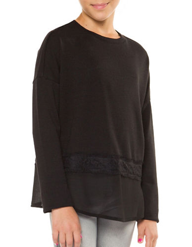 Dex Embroidered Lace Top-BLACK-Small