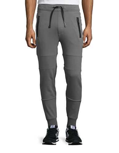 Hip And Bone Organic Cotton Moto Joggers-DARK GREY-X-Large 88615690_DARK GREY_X-Large