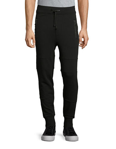 Hip And Bone Biker Jogger Pants-BLACK-X-Large 88415960_BLACK_X-Large