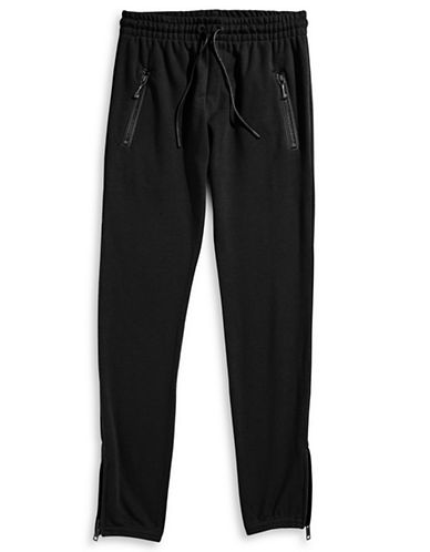 Hip And Bone Army French Terry Joggers-BLACK-Large 87963367_BLACK_Large