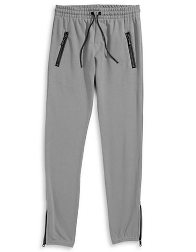 Hip And Bone Army French Terry Joggers-GREY-Small